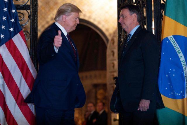 Trump e Bolsonaro eleição