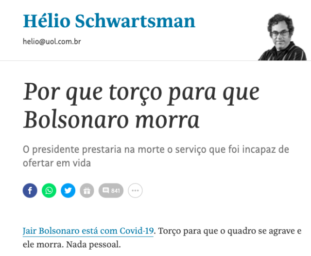 Artigo Schwartsman