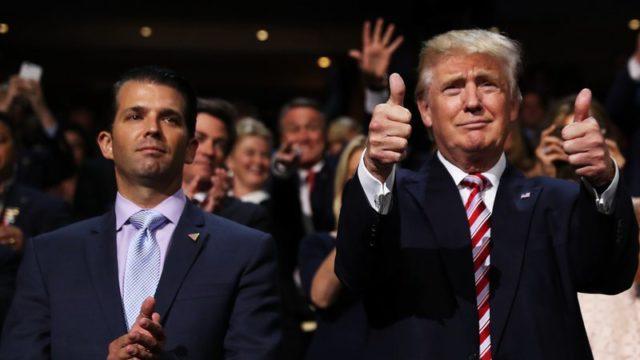 Donald Trump Jr. e Donald Trump
