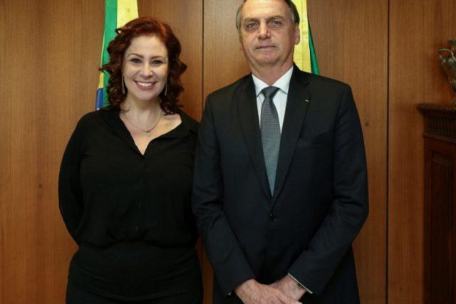 Carla Zambelli e Bolsonaro