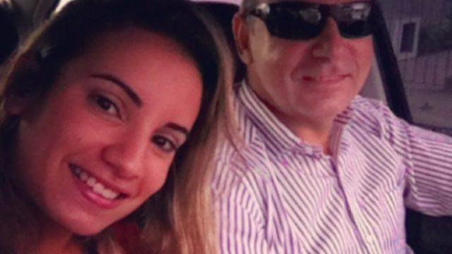 Queiroz e a filha Nathália