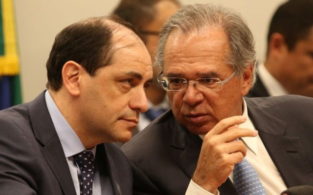 Waldery Rodrigues e Paulo Guedes