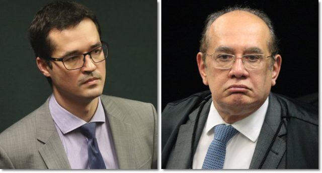 Deltan Dallagnol e Gilmar Mendes