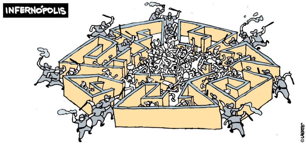 A cartunista Laerte venceu o prêmio de melhor arte do 42° Prêmio Jornalístico Vladimir Herzog de Anistia e Direitos Humanos por charge