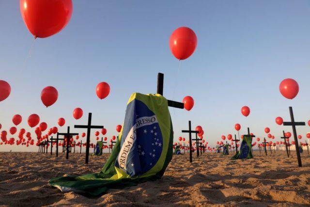 Brasil Pandemia Mortes Covid-19