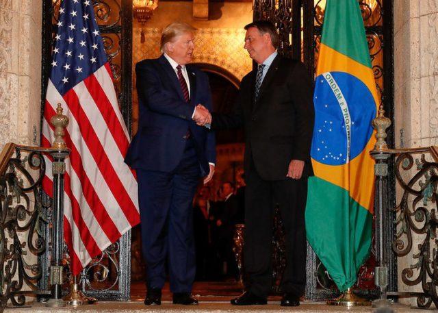 Trump e Bolsonaro Congresso