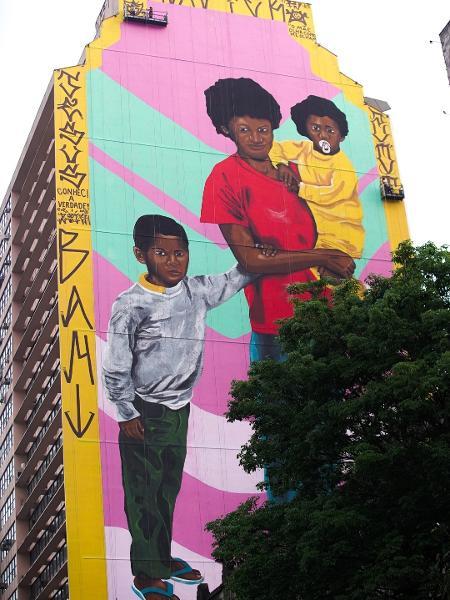 Obra de Robinho Santana em Belo Horizonte Imagem: Divulgação