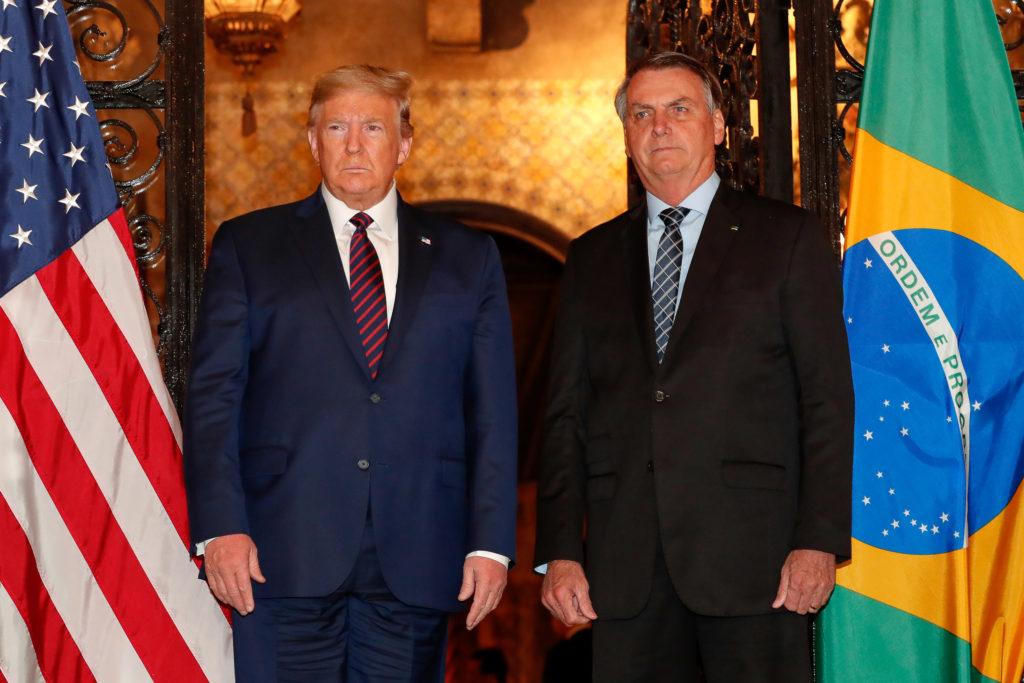 Presidente da República Jair Bolsonaro acompanhado do Presidente dos Estados Unidos Donald Trump. Foto: Alan Santos/PR