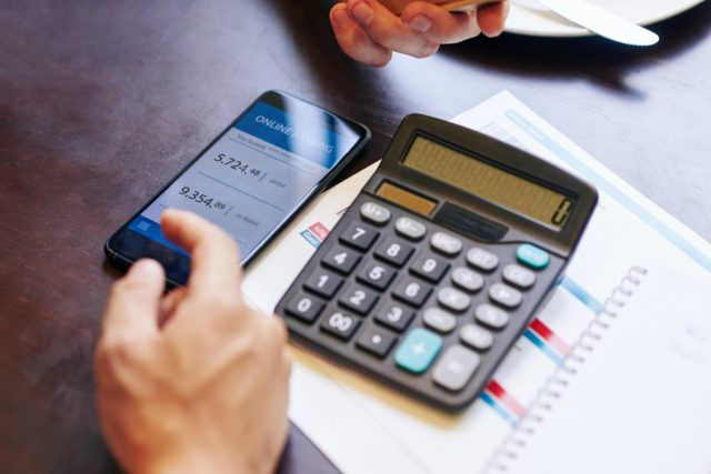 Checking banking account