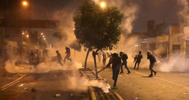 Protestos Peru