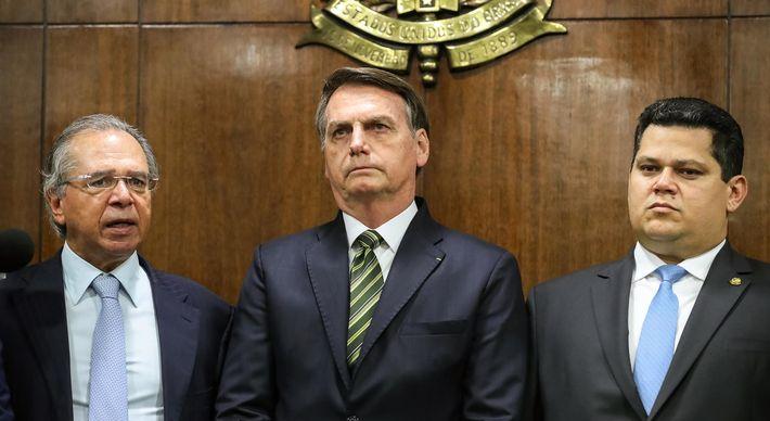 Guedes, Bolsonaro e Alcolumbre