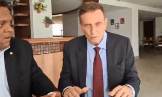 Crivella divulgou um vídeo em que faz falsas acusações contra seu adversário no segundo turno, Eduardo Paes (DEM), e também contra o PSOL