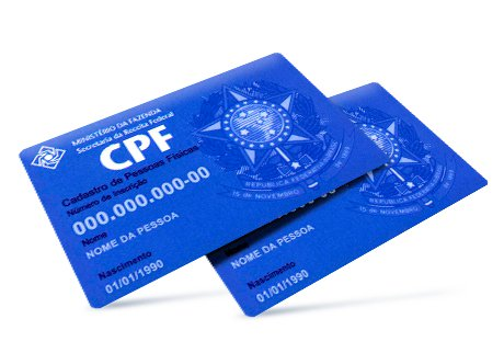 O CPF deverá constar nos cadastros de órgãos públicos Imagem: Reprodução