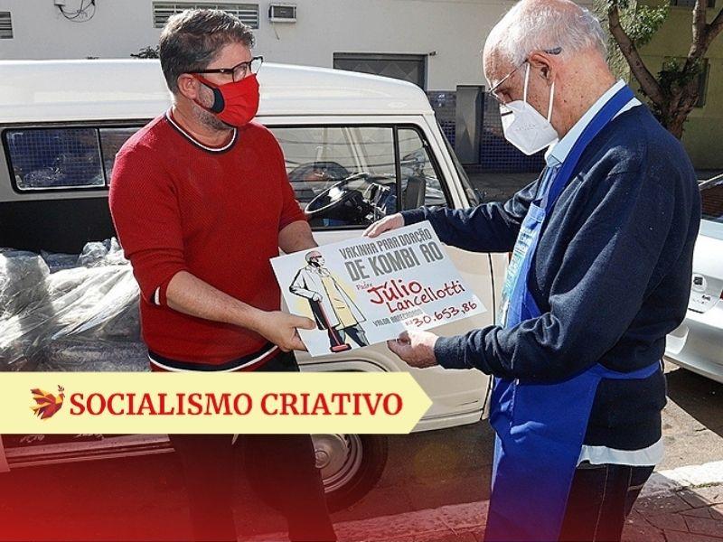 O Sindicato dos Metalúrgicos do ABC, por exemplo, doou uma Kombi ao padre Júlio Lancellotti, da Pastoral do Povo de Rua